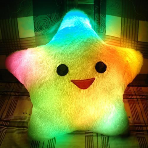 INFMETRY:: Colorful Lucky Star Glow Pillow - Home&amp;Decor