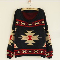 The geometric patterns hedging national wind thick sweaters sweater fs0701 from Fashion Accessories Store
