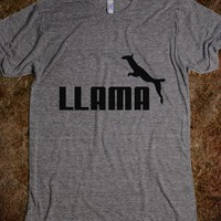 Llama-Unisex Athletic Grey T-Shirt