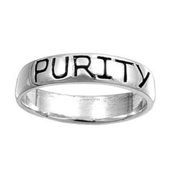 Rhodium Plated Sterling Silver Wedding & Engagement Ring Purity Band 5MM ( Size 5 to 11): Jewelry: Amazon.com