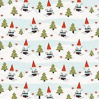 Christmas Wrapping Paper - Skiing Gnome Wrapping Paper - Paper Source