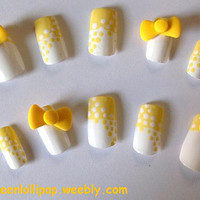 Japanese 3D Nail Art Set Polka Dot Swirl by GreenLollipopNails