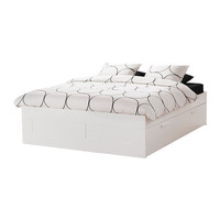 BRIMNES Bed frame with storage - white - Full - IKEA