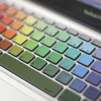 Rainbow MacBook Keyboard Decals - $10 | The Gadget Flow