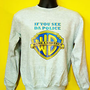 If You See Da Police,Warn A Brother Hip Hop Music Sweatshirt Jumper Grey S-XL