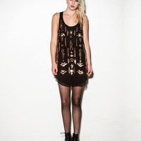 Sequined Geo Tank Dress