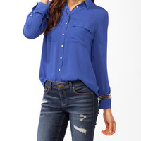 Double Pocket Button Up | FOREVER 21 - 2031557720