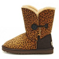 UGG 5803 Women's Leopard Bailey Button Outlet UK