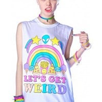 Jac Vanek Let's Get Weird Muscle Tee  | Dolls Kill