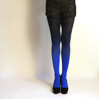 Blue/Black Ombre Tights
