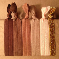Naked Collection Set of 6 Softies hair ties by Opus 19