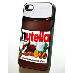 ntellu case Ch brown white nutella ferrero iphone 5 case chocolate cocoa spread 5s cover 5 se sandwitch butter fun jar design humor red green yellow, tpu.