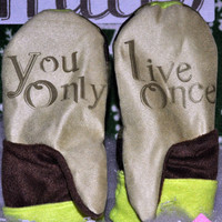 State Mitts - YOLO - Whimsy Inspired Mittens - Stick 'em up and make a Statement