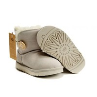 Sand UGG Bailey Button Kid&#x27;s 5991 Outlet UK