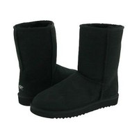 Black Ugg Classic Men's Short Boots Outlet UK