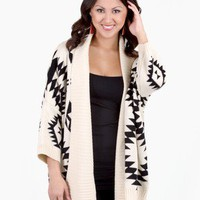Neutral Native Print Sweater by Sketchbook @ FrockCandy.com