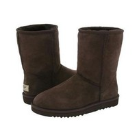Chocolate Ugg Classic Men's Short Boots Outlet UK