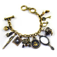 Vintage Gold Royal Charms Bracelet on Luulla