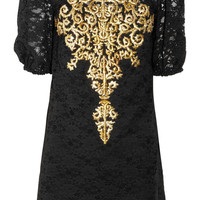 Dolce & Gabbana | Embroidered lace dress | NET-A-PORTER.COM