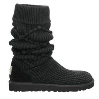 5879 Black UGG Women&#x27;s Classic Argyle Knit Outlet UK