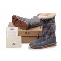 UGG Women's Suburb Crochet Grey 5124 Outlet UK