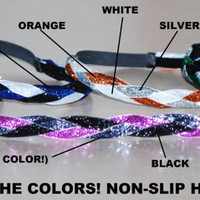 Braided Glitter HEADBANDS - Comfy Bands - Custom - You Pick The Colors - 22 COLORS -