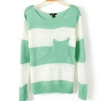 Striped loose sweater D12 from Fashion Accessories Store