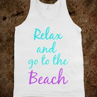 Relax and go to the beach - Art design
