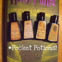 Four Harry Potter Inspired Antibacterial Hand by MudInMyBlood