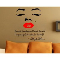 Amazon.com: Marilyn Monroe Wall Decal Decor Quote Face Red Lips Large Nice Sticker: Everything Else