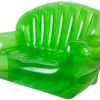 Transparent Bubble Style Inflatable Two Person Sofa Green