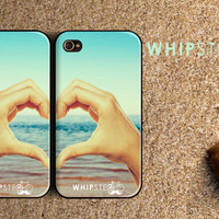 iPhone 4&4S Case- Friendship Heart Hands