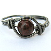 Gunmetal Red Poppy Jasper Gemstone .. on Luulla
