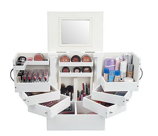 Luxury Deluxe Wood Cosmetic Box w/Mirror by Lori Greiner - QVC.com