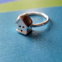 Tiny House Ring Sterling Silver by JDavisStudio on Etsy