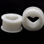 White Silicone Heart Cut-out Plugs - 00g - 10mm - Sold As a Pair: Jewelry: Amazon.com