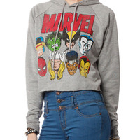 Papaya Clothing Online :: MARVEL HEROES PRINT CROP HOODY