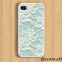 IPHONE 5 CASE Lace Pattern Jasmin flower  iPhone 4 case iPhone 4S case iPhone caseHard Plastic Case Rubber Case