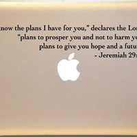 Macbook Jeremiah 29:11 Bible Verse Decal Mac Laptop