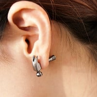Punk Hammer Stud Earring from LOOBACK FASHION STORE