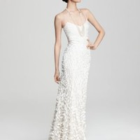 Theia Crepe Petal Gown - Bride - Ceremony - The Wedding Shop - LOOKBOOKS - Fashion Index - Bloomingdale&#x27;s