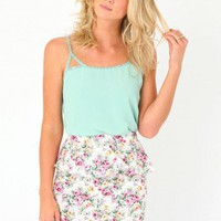 Missguided - Ressa Floral Peplum Skirt