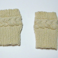 Hand Knitted Cable Boot Cuffs