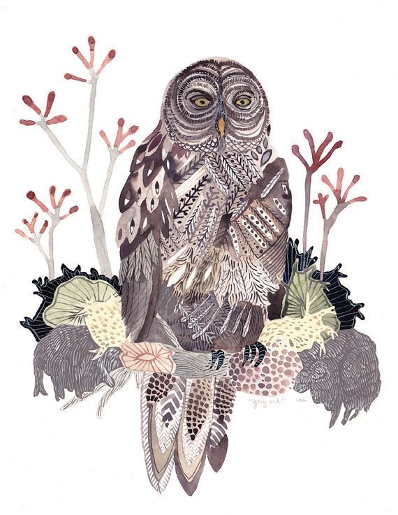 Grey Owl Original Painting