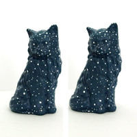 Cat Cake Topper - Star Constellation - Two Clay Sculptures