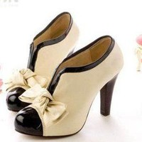 Cute Oxford Bow Fashion Heels