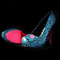 Ladies Savage Skull Heel at Iron Fist International INC. in  TURQUOISE