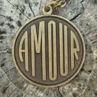 Amour Necklace by ragtrader on Etsy