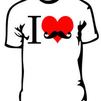 Product - I heart Mustache&#x27;s by Tick Of The Clock Clothing &amp;middot; Storenvy