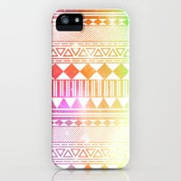 rainbow galaxy navajo tribal pattern iPhone Case by shans | Society6